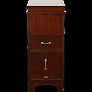 Flip Top 1915 Antique Mahogany File Cabinet