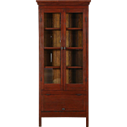 Hires Root Beer Cabinet, 1890's Antique Hand Planed Redwood