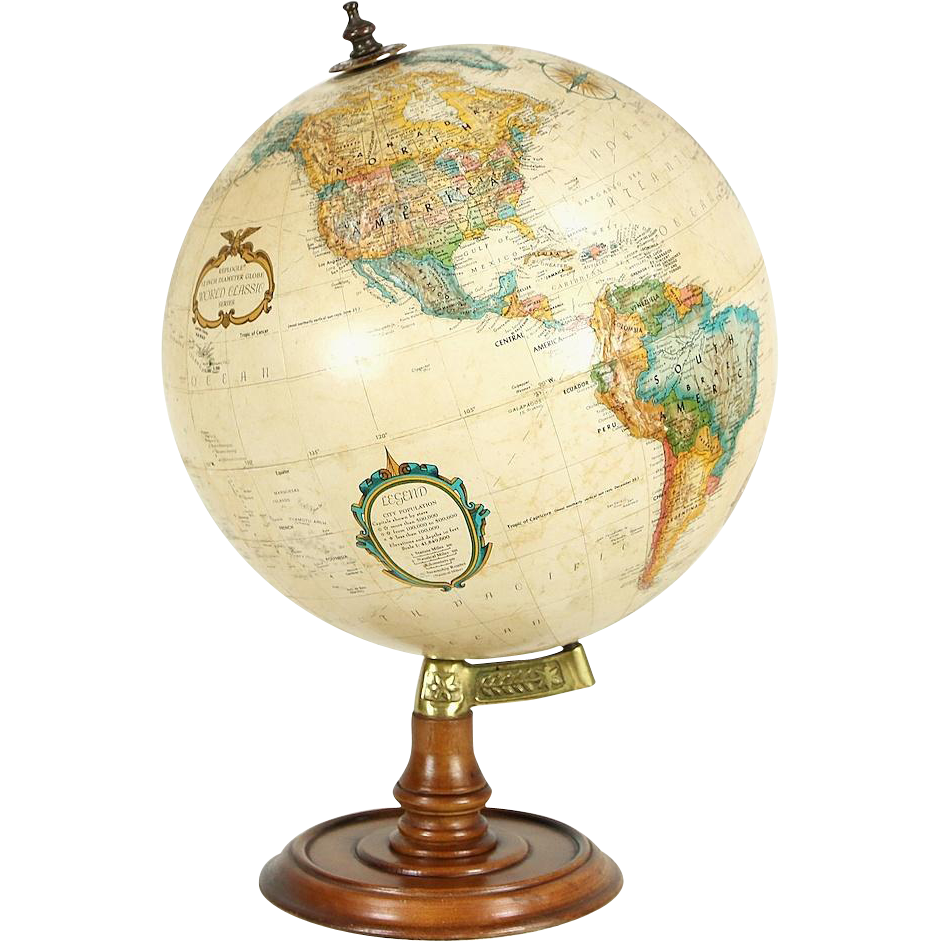 Replogle Signed Globe of the World & Stand
