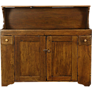 Country Pine 1880's Antique Primitive Kitchen Dry Sink