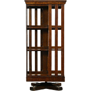 Danner Revolving Signed Antique Spinning or Revolving Chairside Bookcase