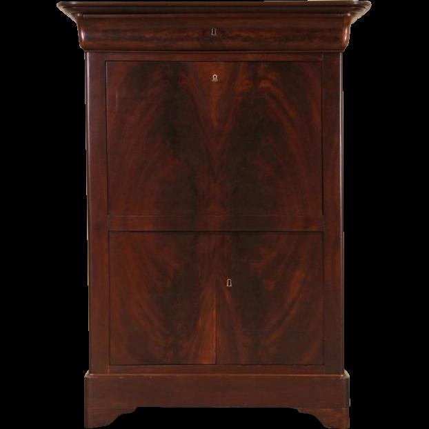 Biedermeier Empire 1840 Antique Secretary Desk