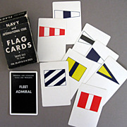 Brown & Bigelow Navy Flag Cards