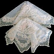 Machine Lace Doilies Or Mats 2 pc.