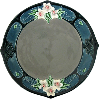 Art Nouveau Majolica Plate By Eichwald