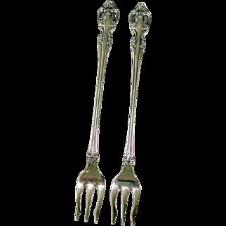 Oneida Stainless Steel Seafood Forks Brahms Pattern