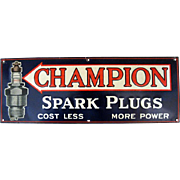 Champion Spark Plug Tin Sign
