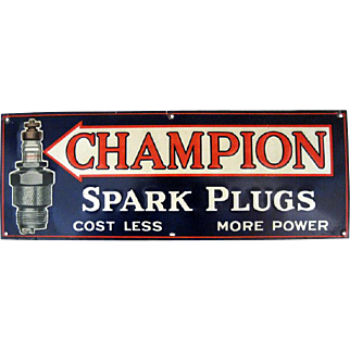 Champion Spark Plug Tin Sign