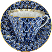 Lomonosov USSR Porcelain Cup and Saucer