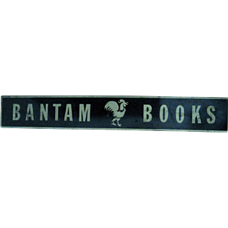 Bantam Books Double Sided Metal Sign
