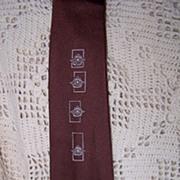 """Elegant Vintage Pierre """"Fine Arts"""" Silk Necktie"""