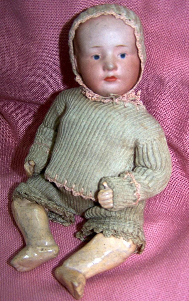 Antique Gebruder Heubach Jointed Pouty Baby Doll Circa