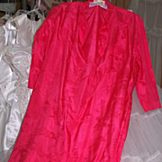Silk Lounging Jacket by Saks Circa 1960's