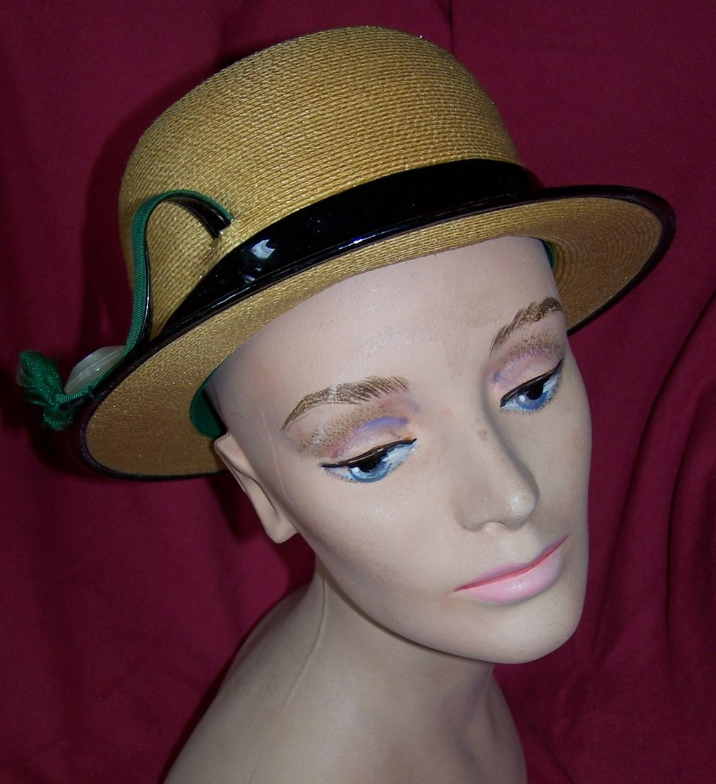 Vintage herbert bernard panama hat fit for a lady circa 1950 s from