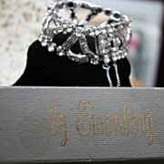 Vintage Eisenberg Wide Rhinestone Bracelet