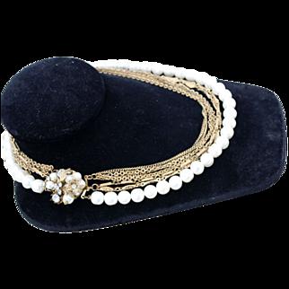 Vintage Miriam Haskell Multi-Strand Necklace