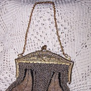 Vintage Gold on Gold Beaded Purse Circa/1920's