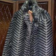 "Vintage Faux Fur ""Zebra Stripe"" Jacket"