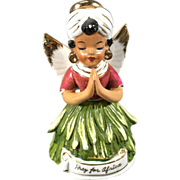 Vintage Pray for Africa Angel Figurine