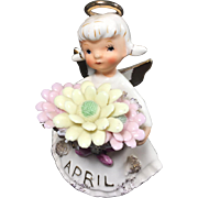 Vintage 1950's Daisy Diamond Lefton Birthday Angel for April #489