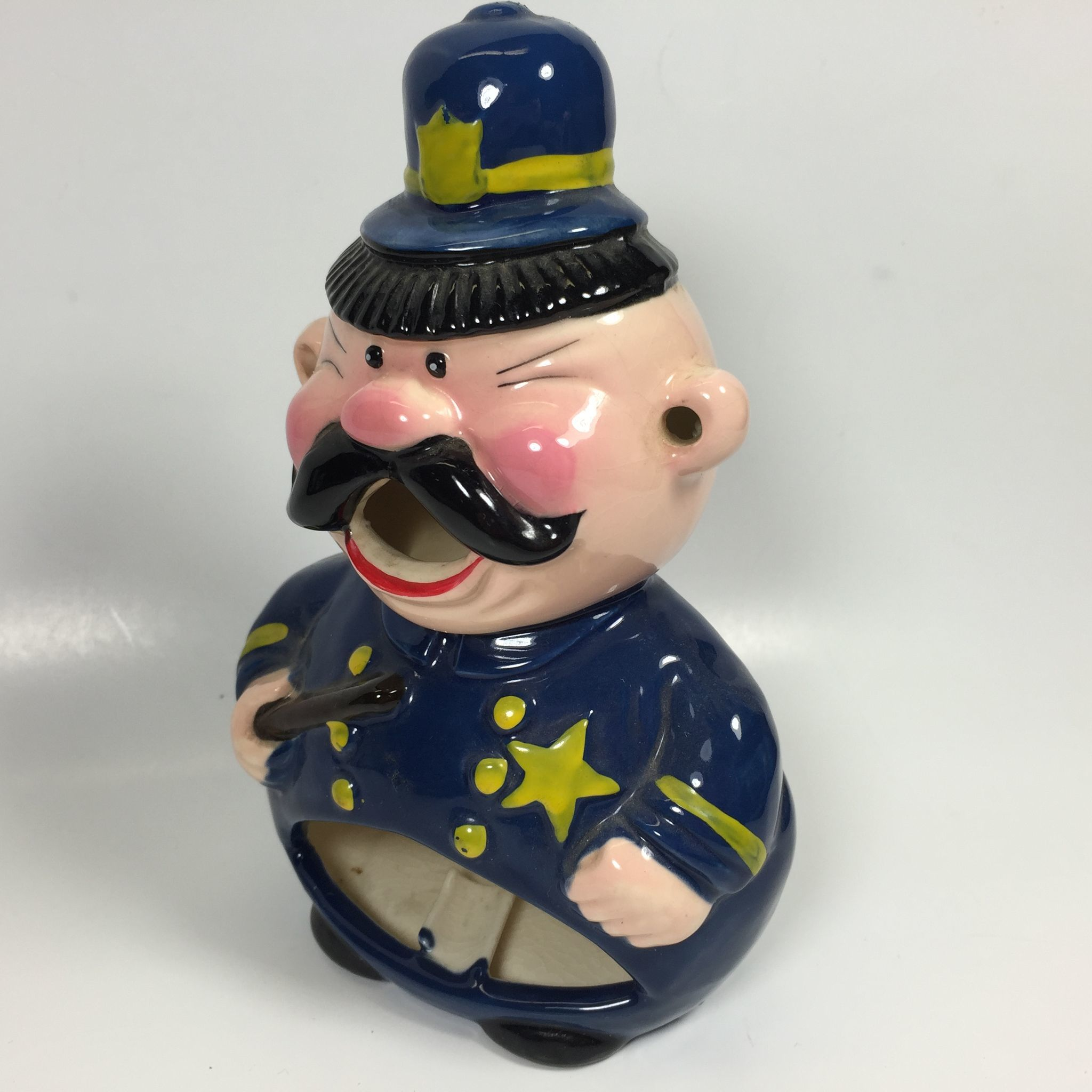 Vintage Police Officer Smoker Ashtray From Headsupvintage
