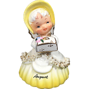 Napco August Angel Bell w Spaghetti Trim
