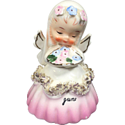 Napco June Bride Angel Bell w Spaghetti Trim A1307F