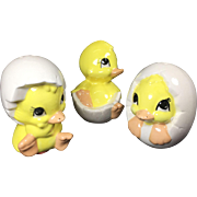 Vintage Chicks Salt Pepper Shakers