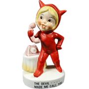 Vintage Kelvin Devil Made Me Call You Girl Figurine