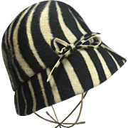 Chapeaux Original Faux Fur Animal Print Cloche Hat