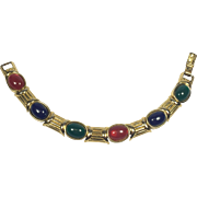 Joan Rivers Sleek Jewel Colored Cabochon Bracelet