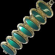Vintage Green Bracelet Lucite Chunky Green