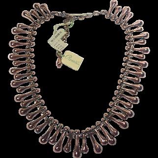 Renoir Copper Atomic Teardrop Choker Necklace w Tags