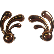 Renoir Mod Spray Copper Earrings