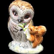 Beswick England Beatrix Potter Old Mr. Brown Owl Figurine