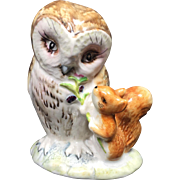 Beswick England Beatrix Potter Old Mr. Brown Owl Figurine
