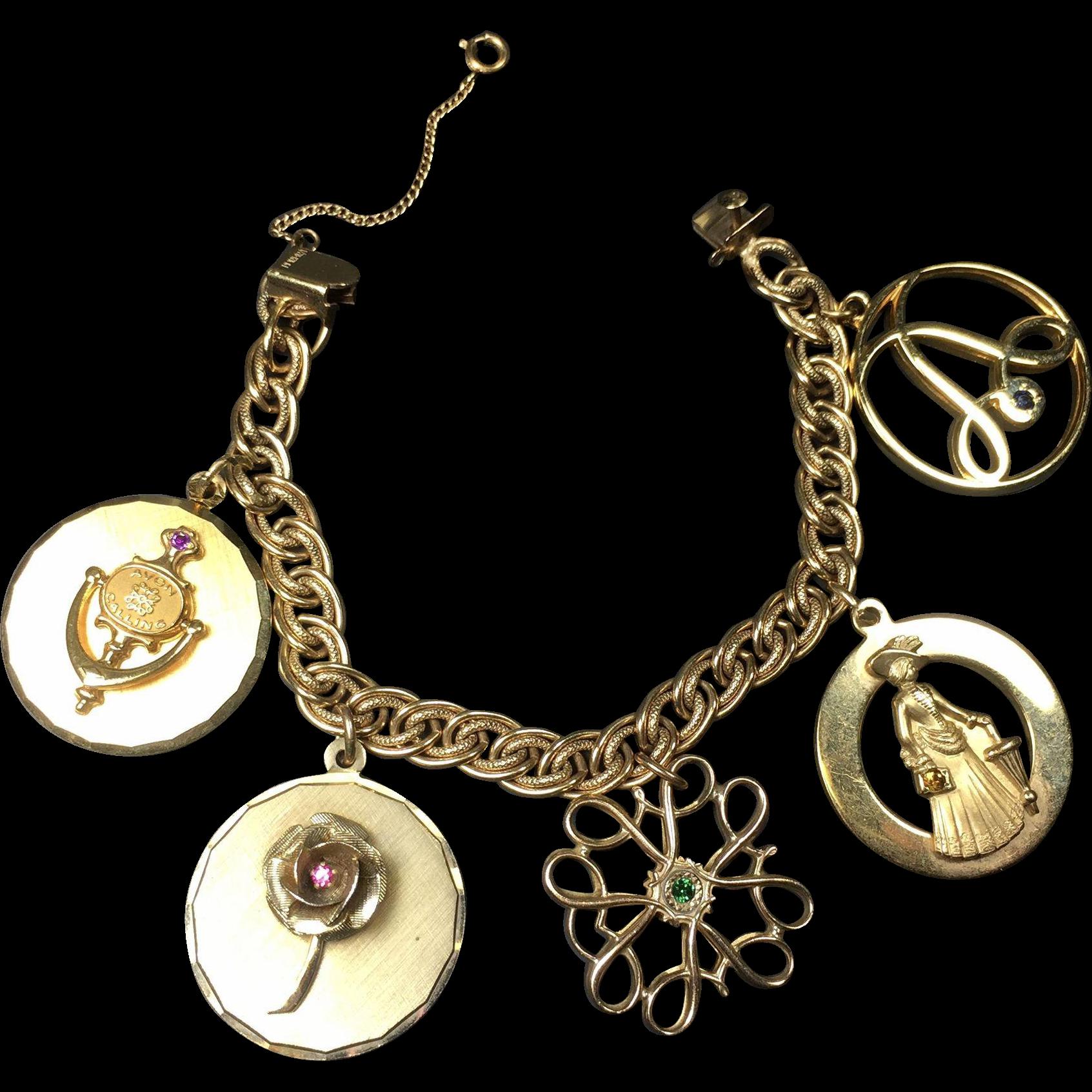 Vintage AVON President's Award Charm Bracelet