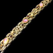 Vintage Bracelet Victorian Revival Style Art Glass