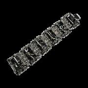Fabulous Retro Chunky Confetti Lucite Black Bracelet