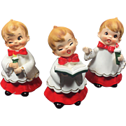 Vintage Christmas Josef Originals Choir Boy Trio Set