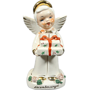 Vintage December Boy Angel of the Month Japan Figurine Series 1300