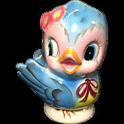Lefton Blue Bird Head Vase Planter