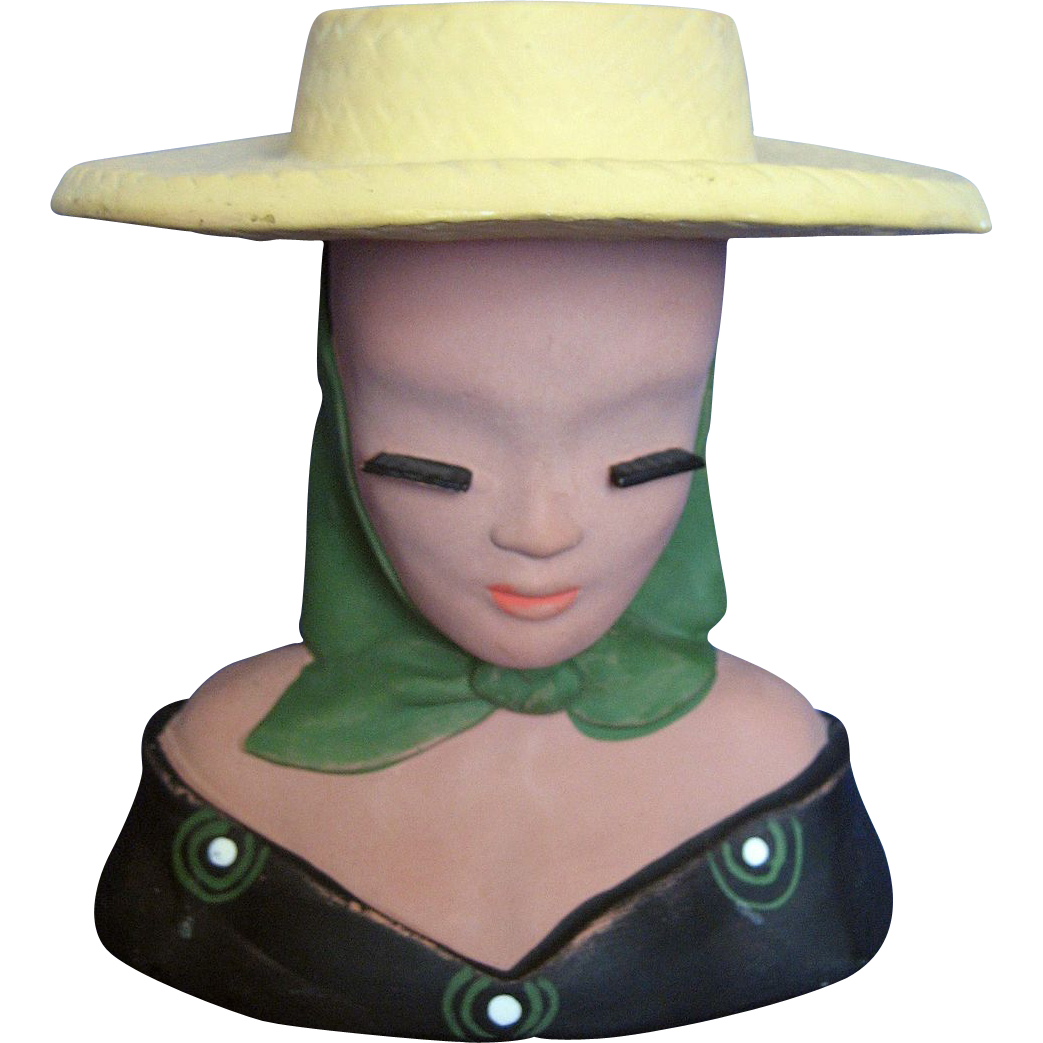 Mexican / Spanish Juanita Lady Head Vase