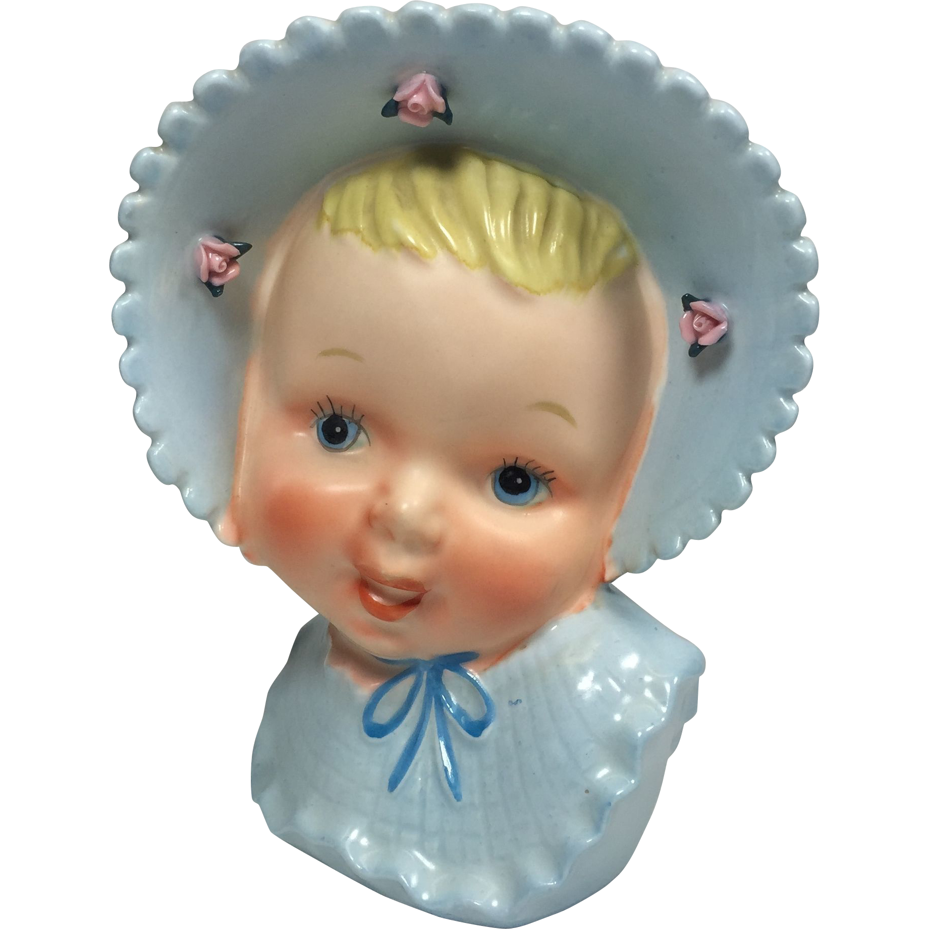 Ucagco Baby Boy Head Vase