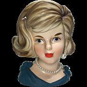 Parma Lady Head Vase w Bows on Shoulders