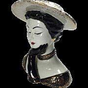 Lefton Vogue Art Deco Style Lady Head Vase
