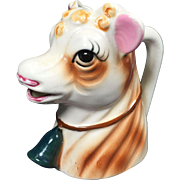 Utilitarian Ceramic Cow Head Creamer