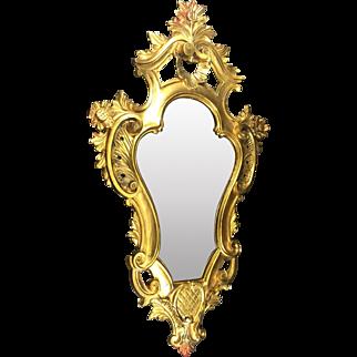 Italian Regency Florentine Carved Gold Gilt Mirror