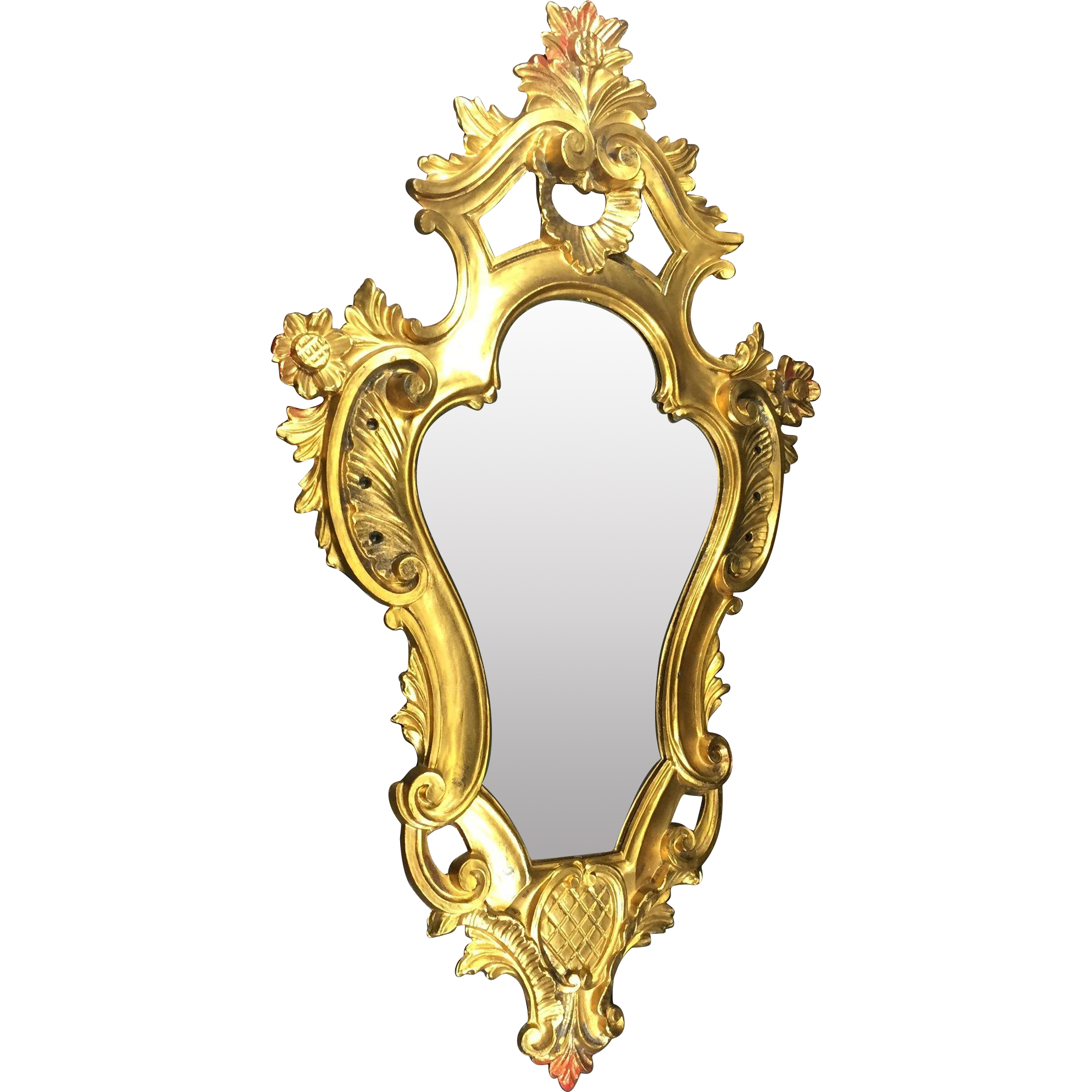 Italian Regency Florentine Carved Gold Gilt Mirror