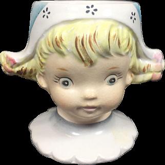 Ceramic Dutch Girl Egg Cup